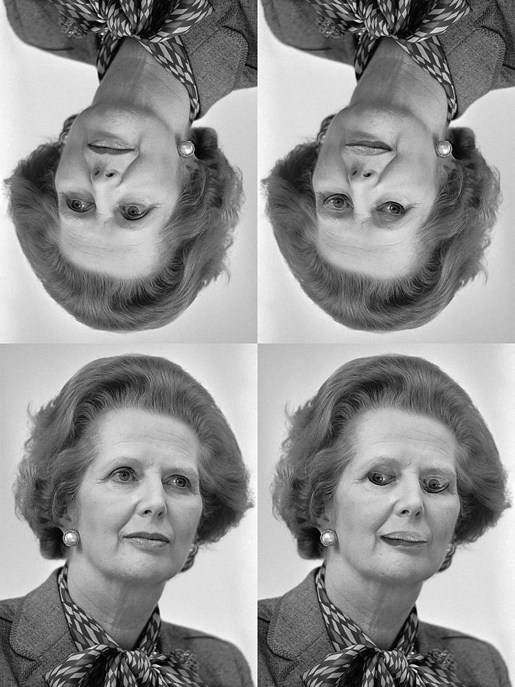 Thatcher effect illusion