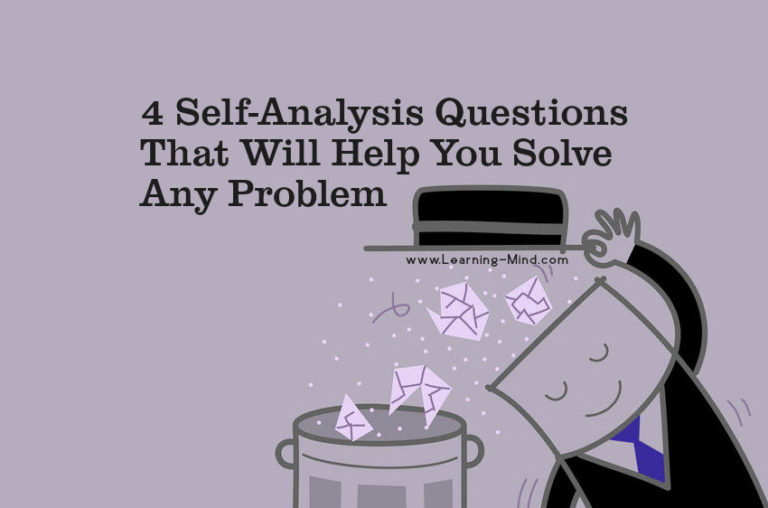 4 Self-Analysis Questions That Will Help You Solve Any Problem