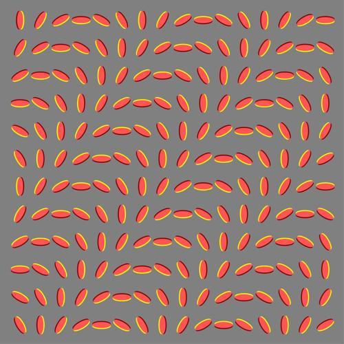 Optical illusion moving