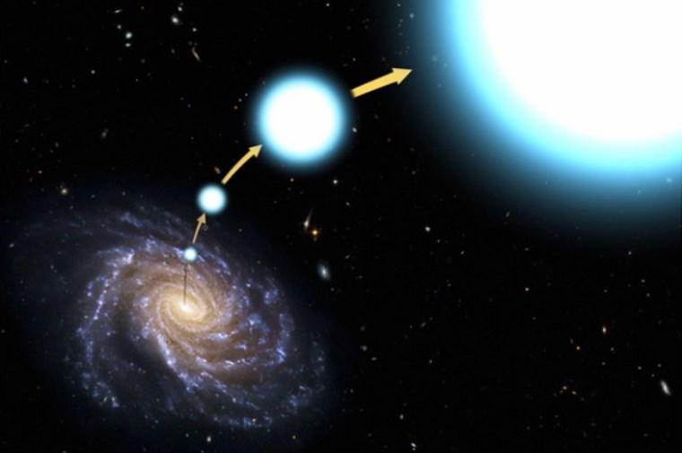 Astronomers Discover a Unique Hypervelocity Star Escaping Milky Way