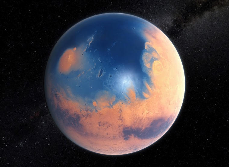 Ancient Ocean on Mars Once Held More Water Than Earth's Arctic Ocean
