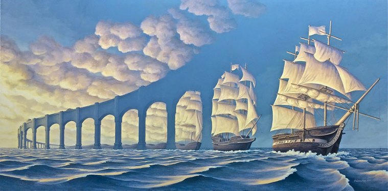 Rob Gonsalves Creates Incredible Optical Illusion Paintings