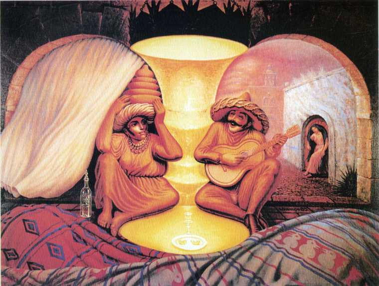 Surrealist Painter Octavio Ocampo Creates Amazing Optical Illusions