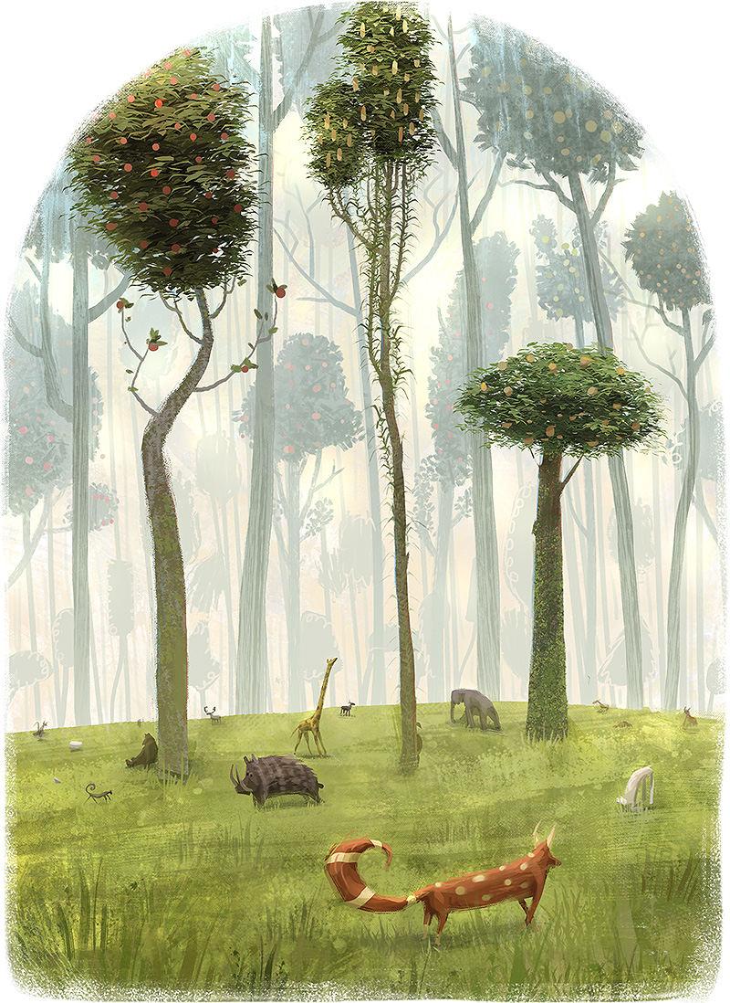 forest dreamlike worlds