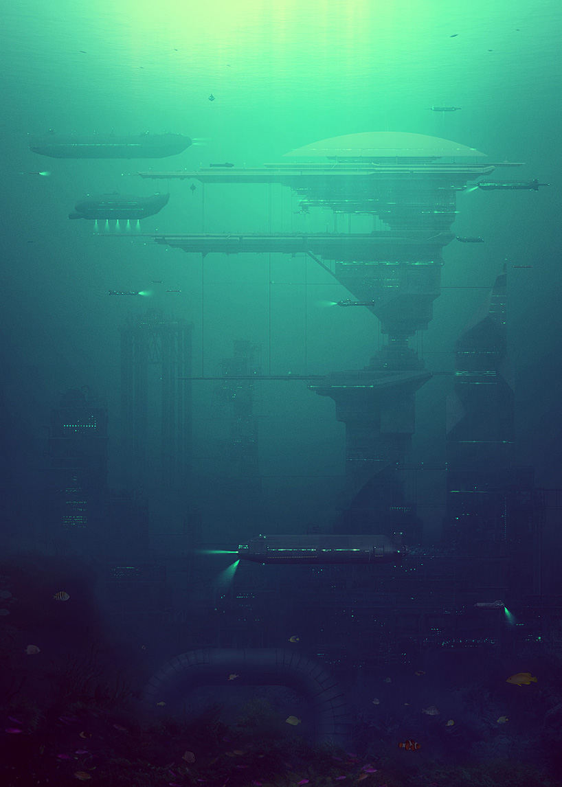 future look of the world underwater cities
