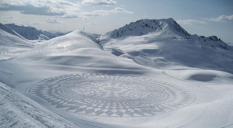 art and math snow art