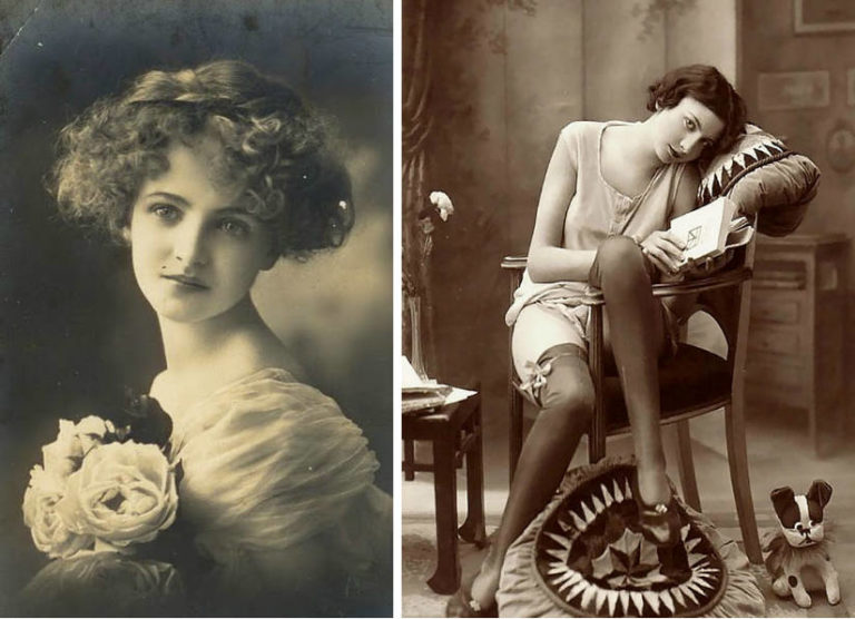 Vintage Postcards Show How Different Women's Beauty Standards Were 100 Years Ago
