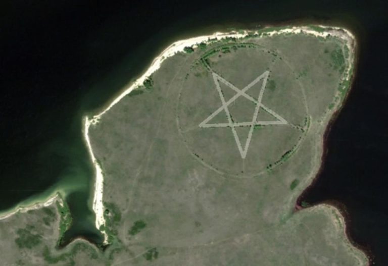 What Is This Huge Pentagram in Kazakhstan Visible on Google Maps?