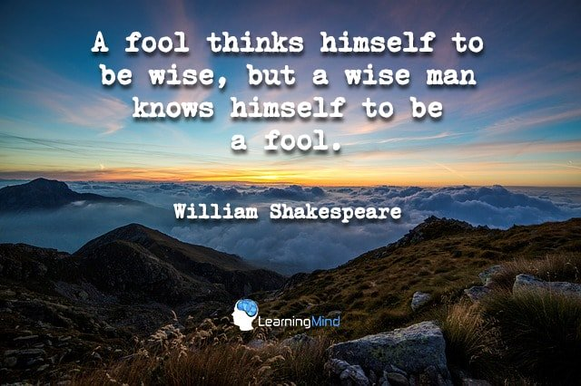 A fool thinks himself