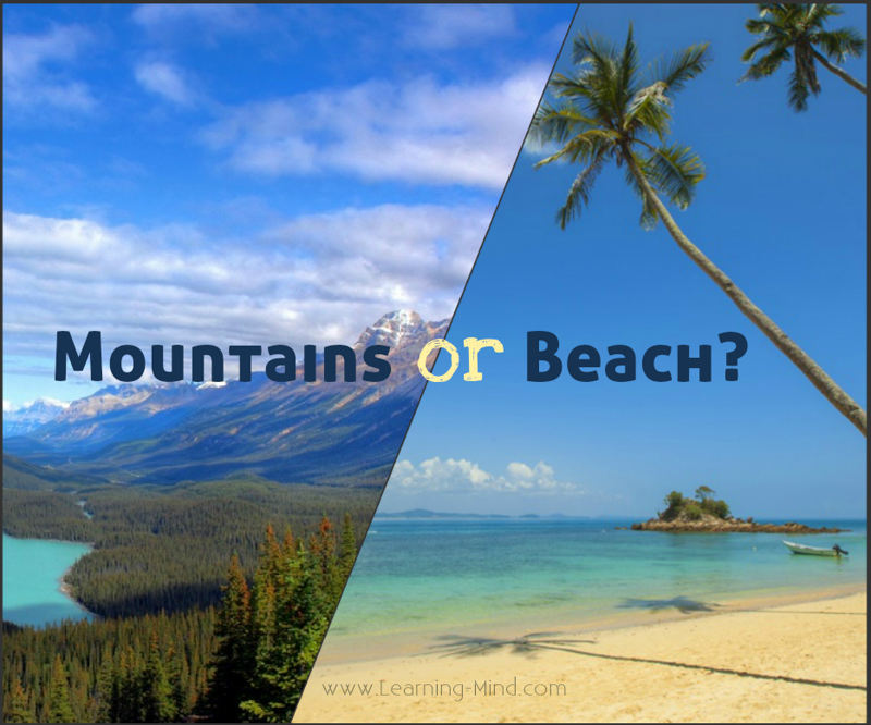 beach or mountains essay Beach vs mountains by as well as oregon jellyfish — odds are not in your favor that beach buddy of yours won't panic and use the long debunked first.