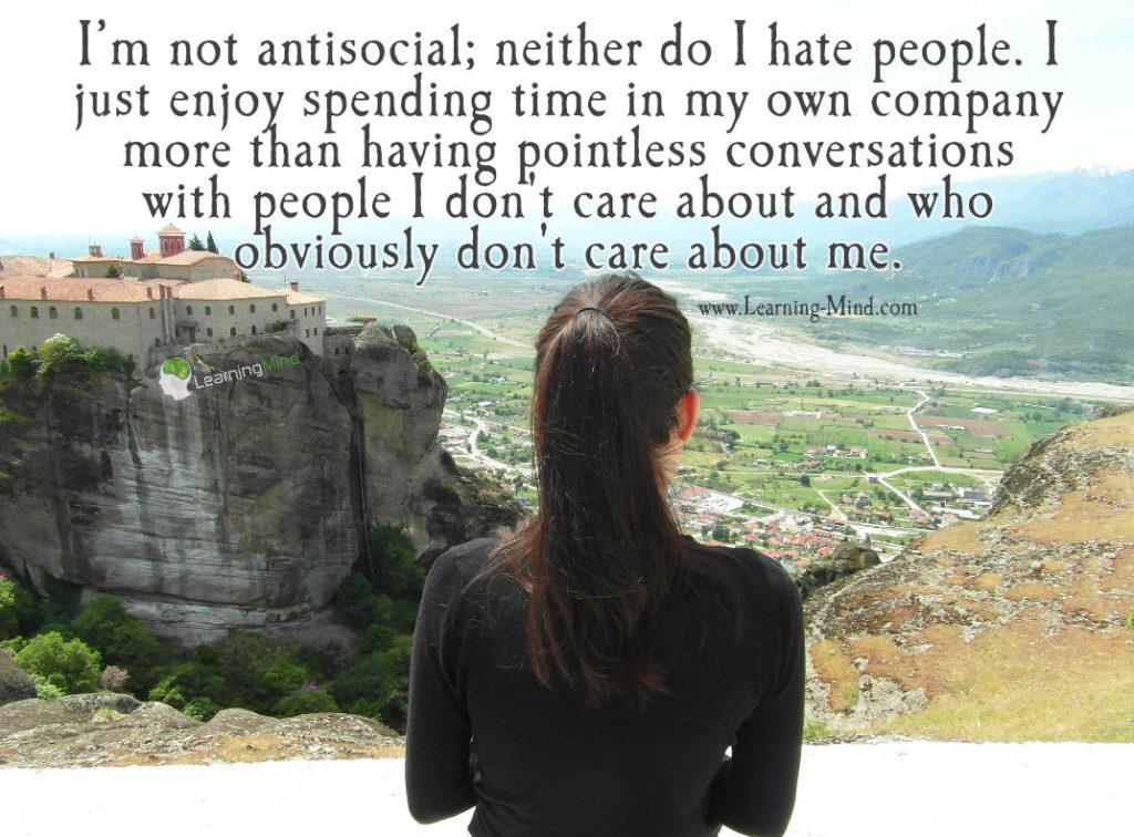 I'm not antisocial