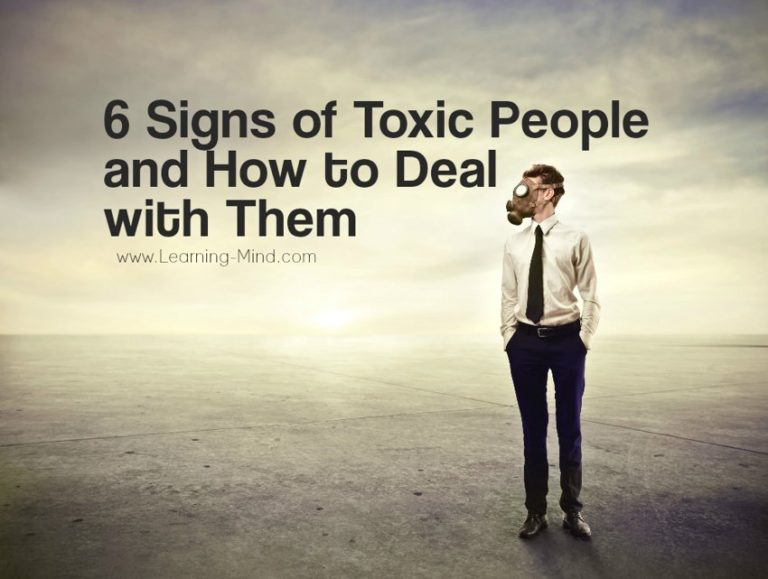 6 Signs of Toxic People and How to Deal with Them