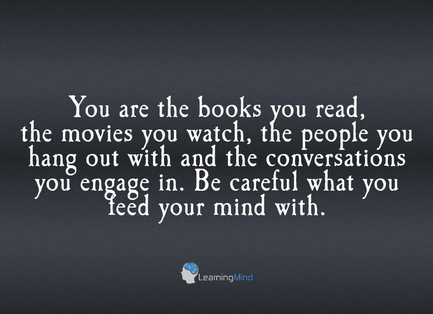 You are the books you read
