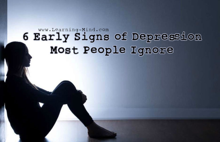 6 Early Signs of Depression Most People Ignore