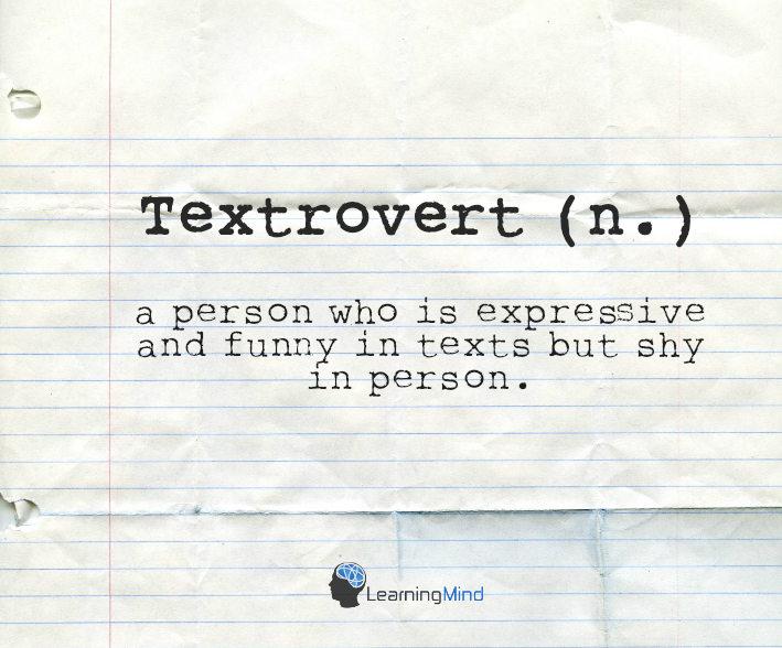 textrovert definition