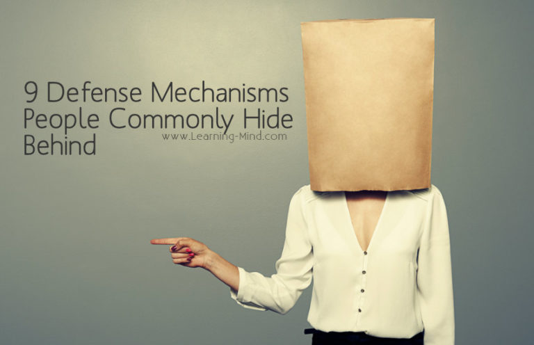 9 Defense Mechanisms People Commonly Hide Behind