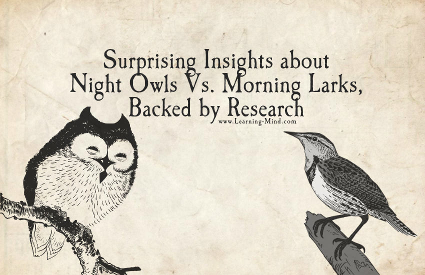 night owls vs morning larks Night owls (delayed phase sleep disorder) vs morning larks (advanced phase sleep disorder) to make things simple, scientists have classified people's sleep.