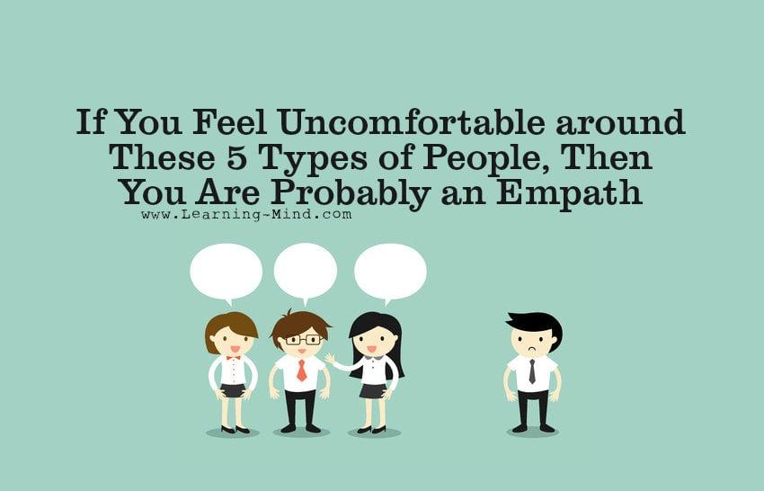 feel uncomfortable empath