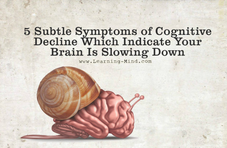 5 Subtle Symptoms of Cognitive Decline Which Indicate Your Brain Is Slowing Down