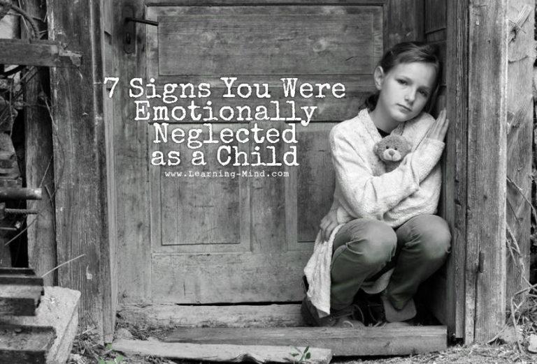 7 Symptoms of Childhood Emotional Neglect
