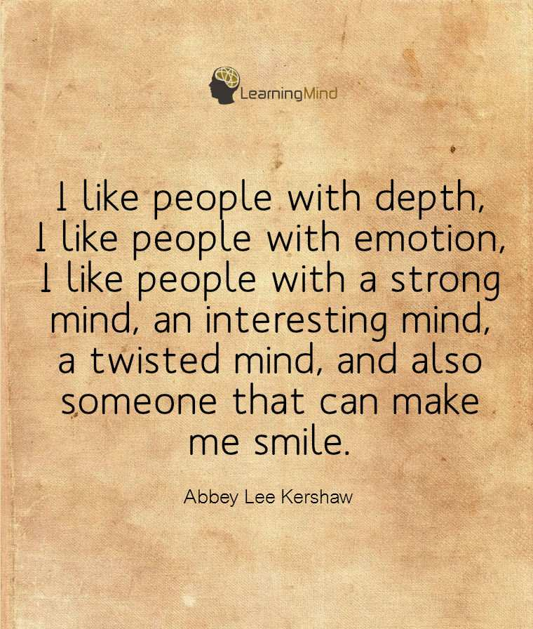 I like people with depth