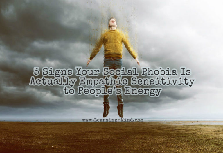 5 Signs Your Social Phobia Is Actually Empathic Sensitivity to People's Energy