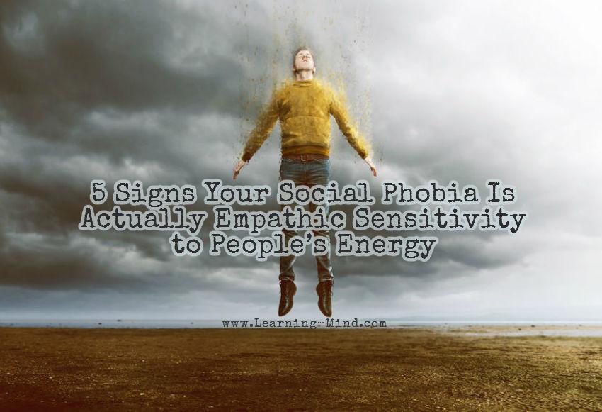 social phobia empathic sensitivity