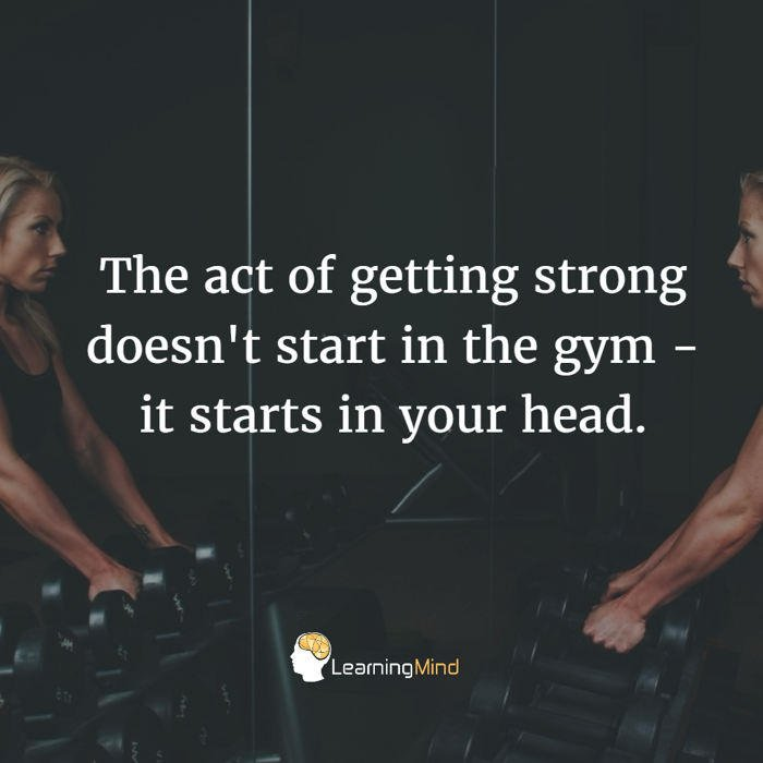The act of getting strong doesn't start in the gym.