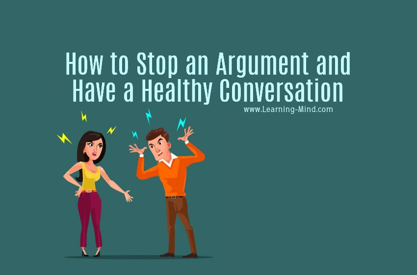 how to stop an argument