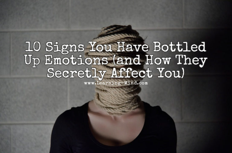 10 Signs You Have Bottled Up Emotions (and How They Secretly Affect You)