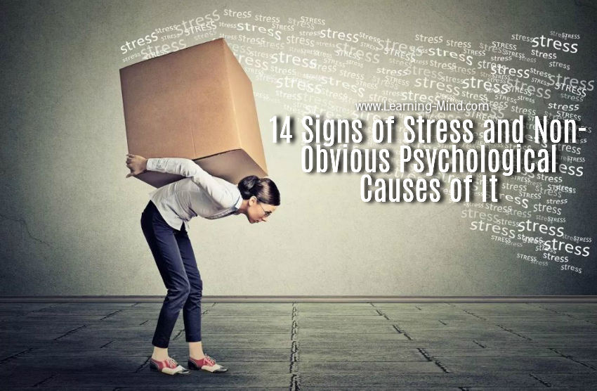 14 Signs of Stress and Non-Obvious Psychological Causes of It