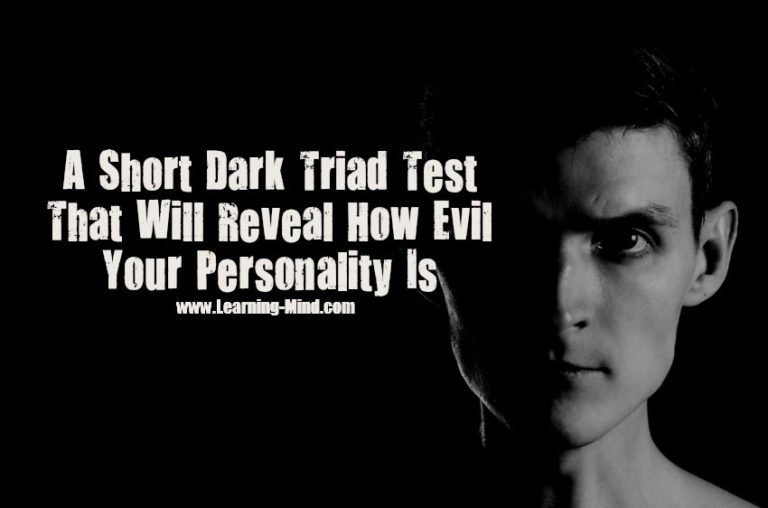 A Short Dark Triad Test That Will Reveal How Evil Your Personality Is