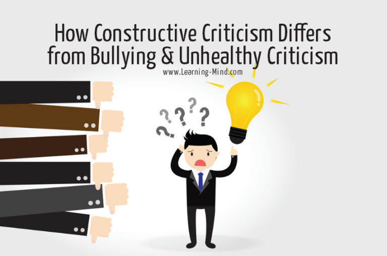 How Constructive Criticism Differs from Bullying and Unhealthy Criticism