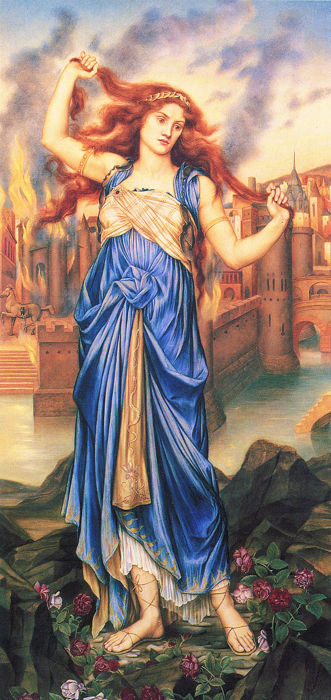 Painting of Cassandra by Evelyn De Morgan
