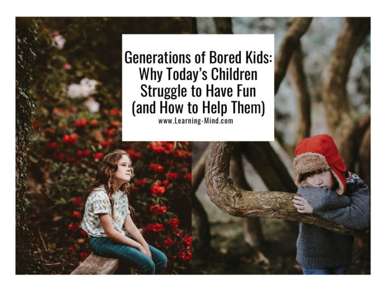 Generations of Bored Kids: Why Today's Children Struggle to Have Fun