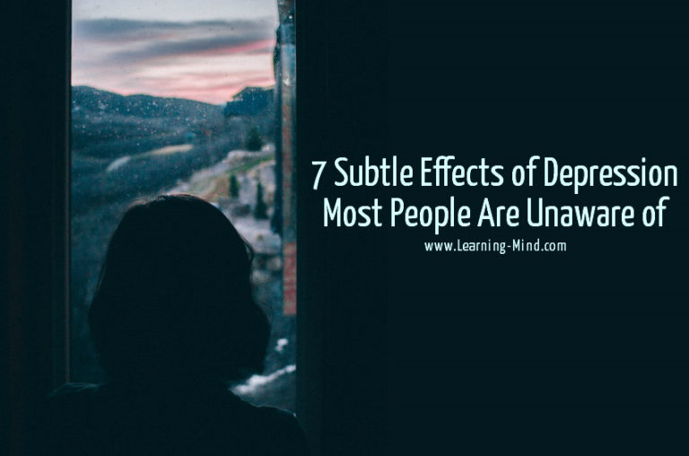 7 Subtle Effects of Depression Most People Are Unaware of