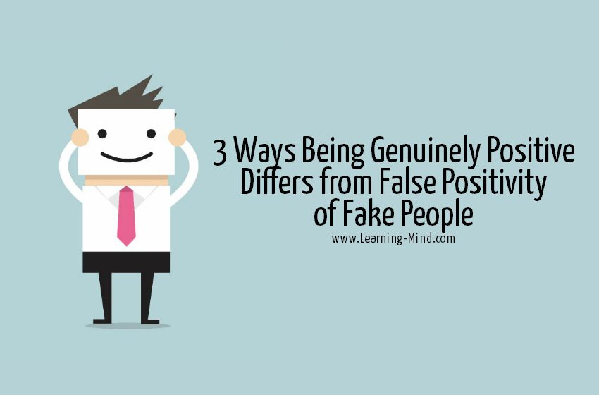 being positive fake
