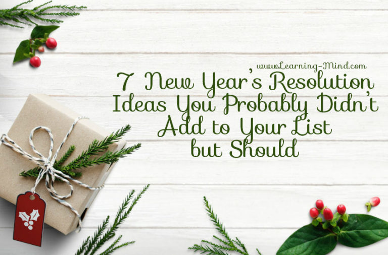 7 New Year's Resolution Ideas You Probably Didn't Add to Your List but Should