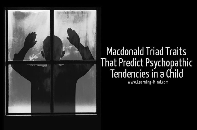 Macdonald Triad Traits That Predict Psychopathic Tendencies in a Child