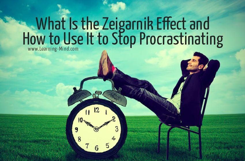 Zeigarnik Effect Procrastination