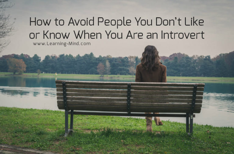 How to Avoid People You Don't Like or Know When You Are an Introvert