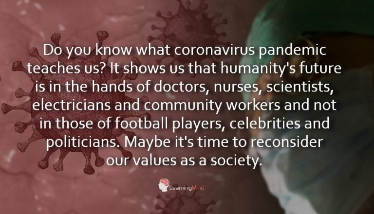 A Powerful Lesson Coronavirus Pandemic Teaches Our Society
