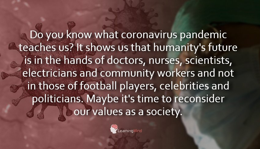 what coronavirus pandemic teaches us