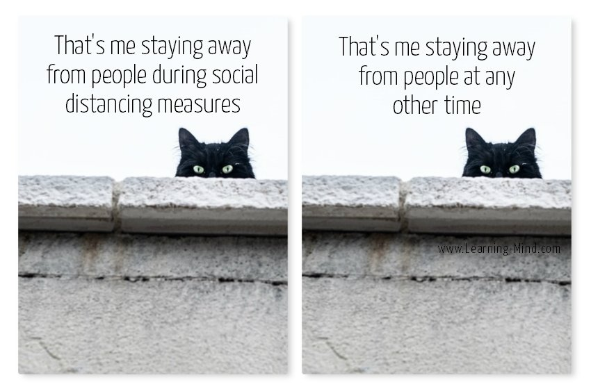 That's me staying away from people during social distancing measures