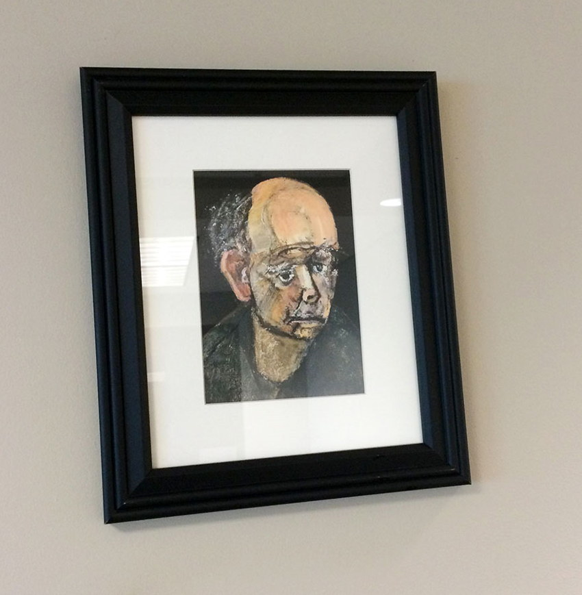 Alzheimer's disease self-portrait