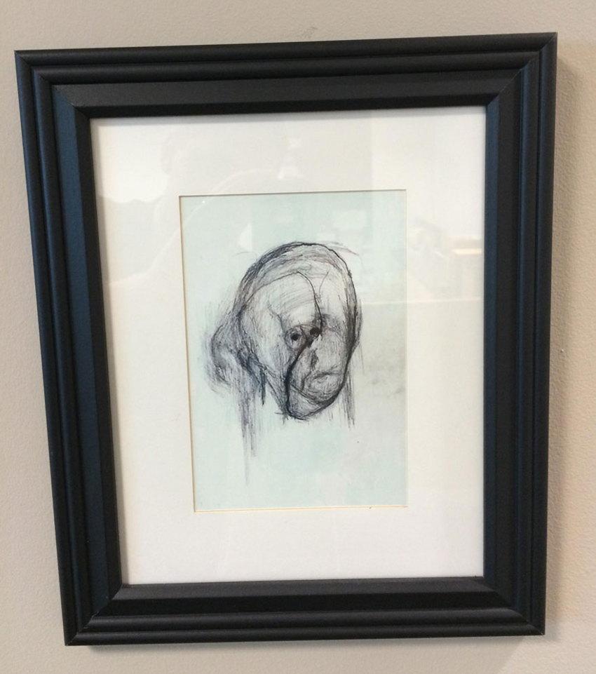 artist with Alzheimer's self-portrait 2000