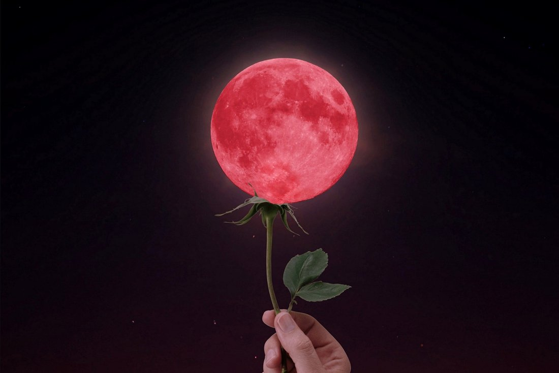 This Month We'll Have a Super Flower Blood Moon Paired with a Total Lunar Eclipse!