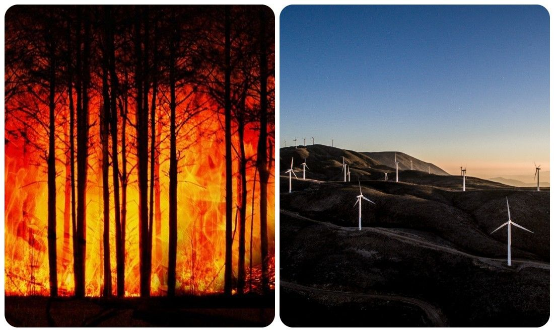 Greece's Euboea Plagued by Wildfire 2 Weeks After Locals Say No to a Wind Farm in the Area